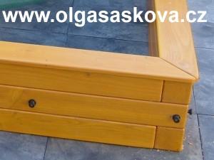 Dřevěné pískoviště z hranolů 9x9 cm| truhlář truhlářské práce Václav Holoubek
