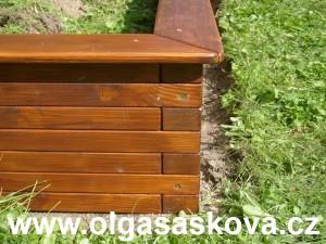 Dřevěné pískoviště z hranolů 4x7 cm| truhlář truhlářské práce Václav Holoubek