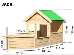 JACK pirátský domek KARIBU dřevěný domek pro děti jako stavebnice pro stavbu svépomocí