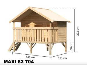 MAXI 82704 dětský domek KARIBU dřevěný domek pro děti jako stavebnice pro stavbu svépomocí