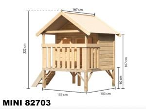 MINI 82703 dětský domek KARIBU dřevěný domek pro děti jako stavebnice pro stavbu svépomocí