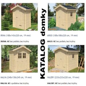 KATALOG zahradní domky, domky na nářadí dřevěné garáže zahradní domky truhlář Václav HOLOUBEK